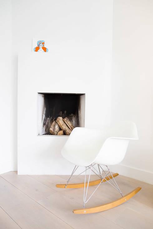 Woonhuis Laren: moderne Woonkamer door ontwerpplek, interieurarchitectuur
