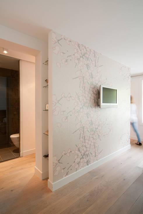 Woonhuis Utrecht:  Slaapkamer door ontwerpplek, interieurarchitectuur