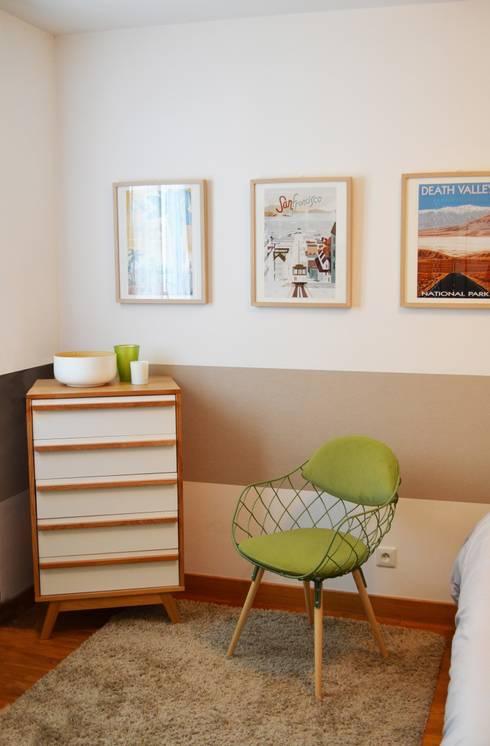 Appartement 60m² - Villejuif: Chambre de style de style Scandinave par Sandrine Carré
