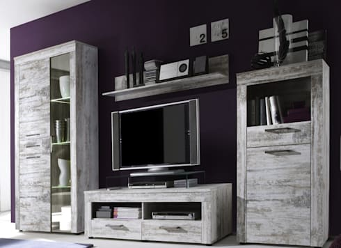 grau weisse wohnwelten von dreams4home homify. Black Bedroom Furniture Sets. Home Design Ideas