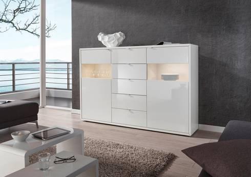 grau weisse wohnwelten von dreams4home homify. Black Bedroom Furniture Sets. Home Design Ideas