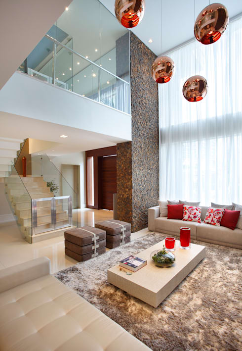 غرفة المعيشة تنفيذ Arquitetura e Interior