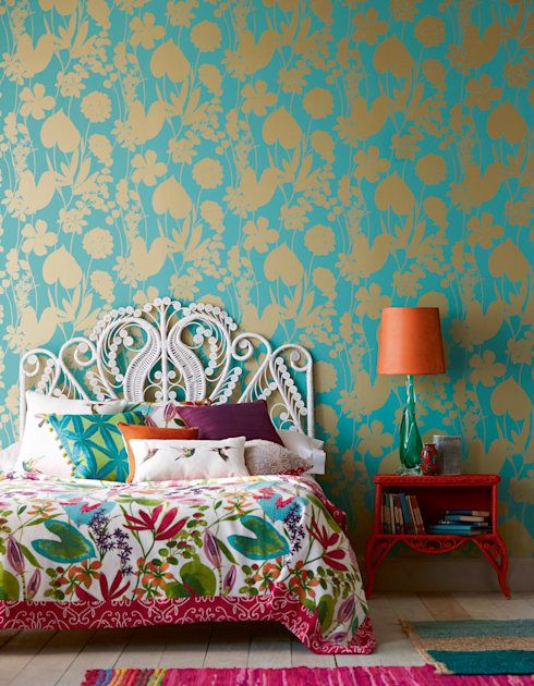 Pareti & Pavimenti in stile in stile Moderno di Tapeten der 70er