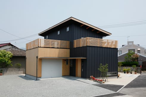 外観: 有限会社クリエデザイン/CRÉER DESIGN Ltd.が手掛けた家です。