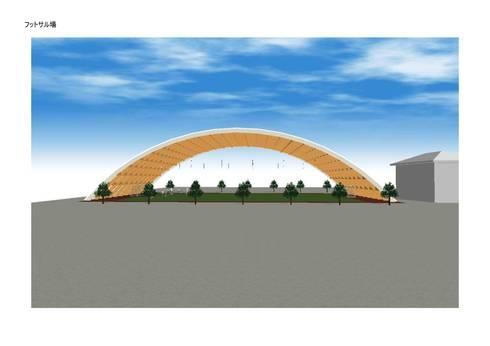 フットサルコート: IROHA ARCHITECTS DESIGN OFFICEが手掛けたスタジアムです。