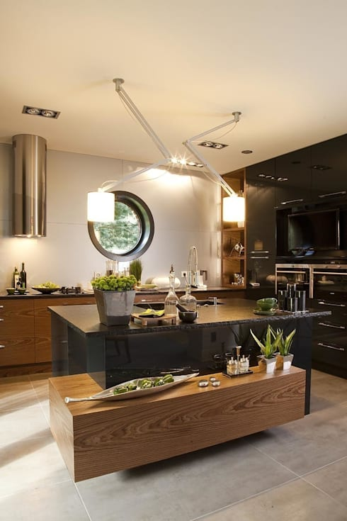 Cocinas de estilo industrial por RAJEK Projektowanie Wnętrz