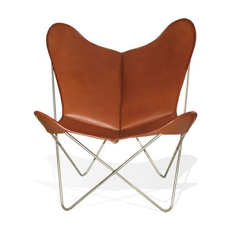 Schon WEINBAUM Hardoy Butterfly Chair ORIGINAL Leder Tabak