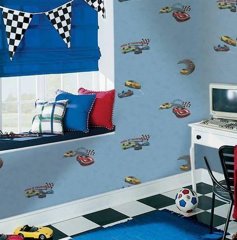 4 Duvar İthal Duvar Kağıtları & Parke – Uygulamalar:  tarz Çocuk Odası