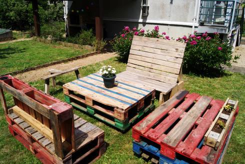 Mobilier de jardin en palettes recyclées par creationsecopalettes ...