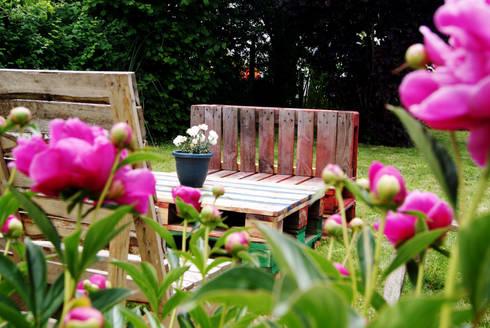 Mobilier de jardin en palettes recycl es par - Mobilier de jardin en palette ...