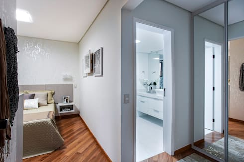 Apartamento Chácara Klabin (SP): Quartos  por Amanda Pinheiro Design de interiores