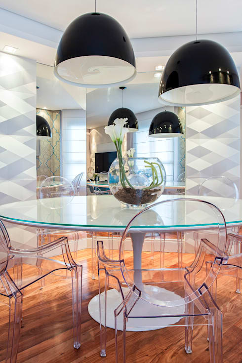 Sala de jantar  por Amanda Pinheiro Design de interiores
