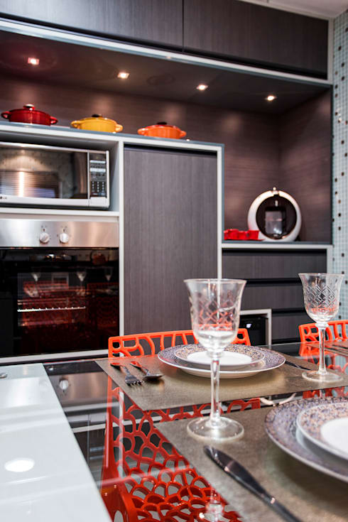Apartamento Chácara Klabin (SP): Cozinha  por Amanda Pinheiro Design de interiores