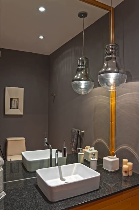 Departamento Tamarindos: Baños de estilo  por Concepto Taller de Arquitectura