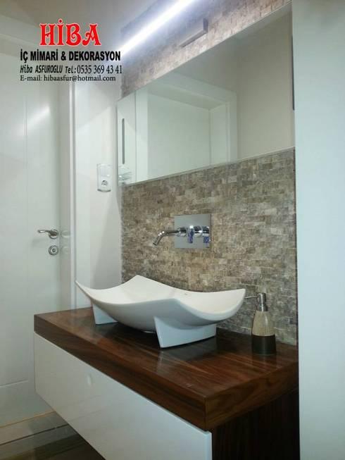 Hiba iç mimari ve dekorasyon – Ali Dablan Evi:  tarz Banyo
