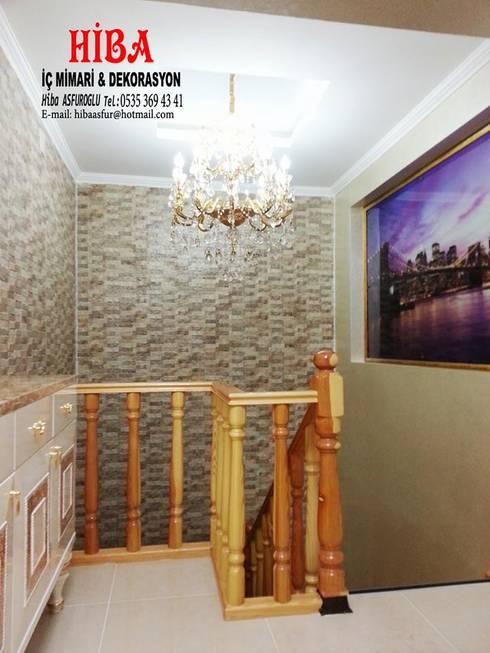 Hiba iç mimari ve dekorasyon – Bedi Samsum Dublexi:  tarz Koridor ve Hol