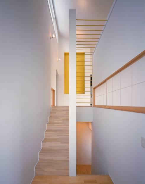 大椎町の家: 久保田章敬建築研究所が手掛けた廊下 & 玄関です。