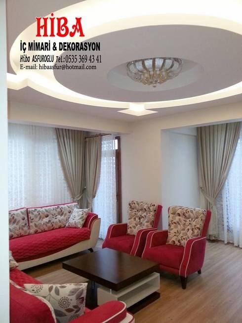 Hiba iç mimari ve dekorasyon – Seyran Timur Bozdoğan:  tarz Oturma Odası