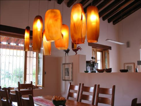 Iluminación: Comedor de estilo  por Xaquixe