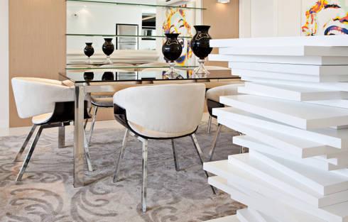 Jantar 2: Salas de jantar modernas por Virtu Arquitetura