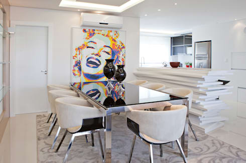 Jantar 3: Salas de jantar modernas por Virtu Arquitetura