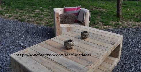 L\'atelier d\'Adri - Salon de jardin - Bois de palettes by l\'atelier ...