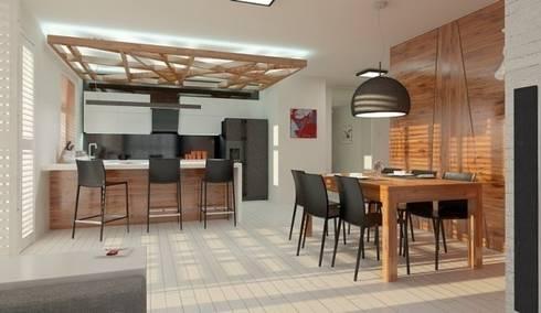 APARTAMENT W LUBLINIE: styl , w kategorii Jadalnia zaprojektowany przez Kunkiewicz Architekci