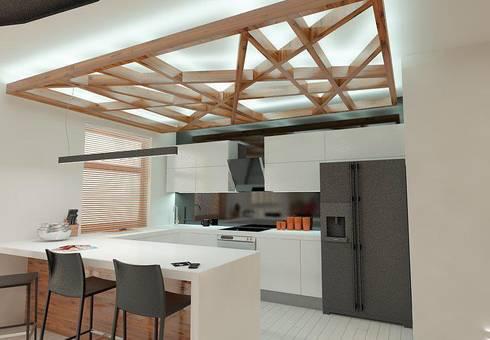 APARTAMENT W LUBLINIE: styl , w kategorii Kuchnia zaprojektowany przez Kunkiewicz Architekci