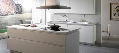 Las cocinas vegasa kitchen y sus muebles sin tirador de vegasa kitchen homify - Cocina sin tiradores ...