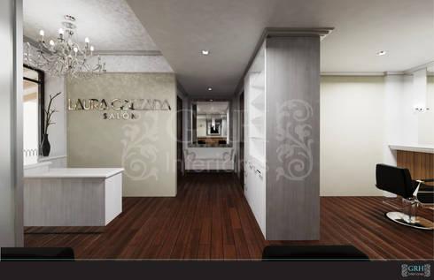 LAURA CALZADA SALÓN: Espacios comerciales de estilo  por GRH Interiores