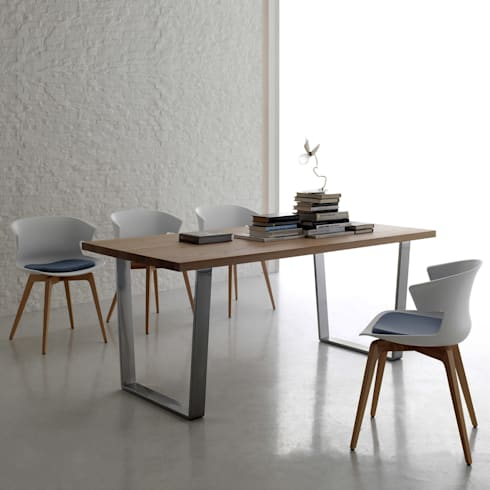 U0027Woodu0027 Contemporary Dining Table By Santa Lucia: Modern Dining Room By My  Italian