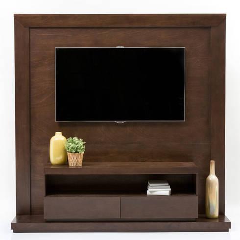 Mueble de TV enmarcado: Sala multimedia de estilo  por MADERISTA