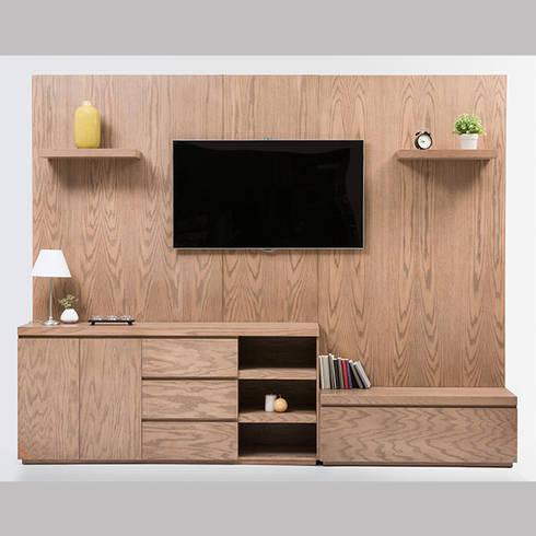 Muebles multimedia de maderista homify - Mueble multimedia ...