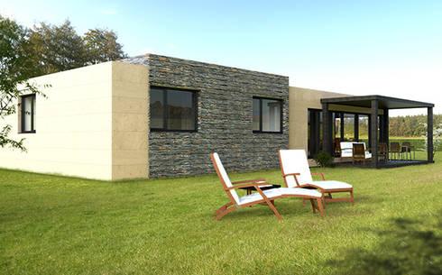 Modelos 2015 tambi n con revestimiento de pizarra natural for Casa moderna 150 m2