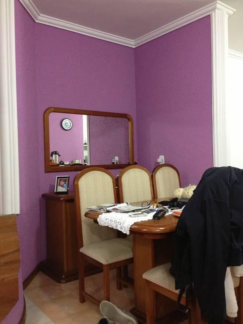 Sala: Antes da reforma:   por Espaço do Traço arquitetura