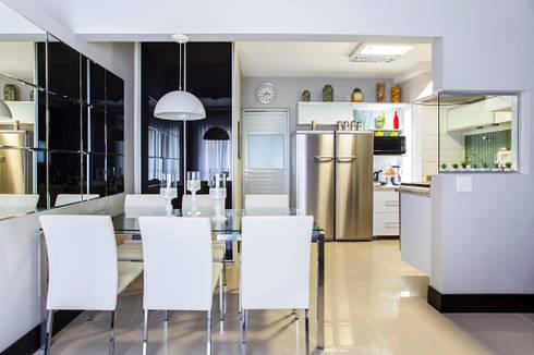 Sala de Jantar: Salas de jantar modernas por Lo. interiores