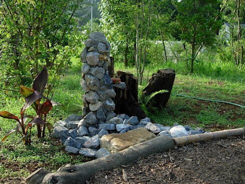 オリジナル立水栓: 木村博明 株式会社木村グリーンガーデナーが手掛けた庭です。