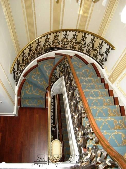 Balustrada schodowa – wzór B236: styl , w kategorii Korytarz, hol i schody zaprojektowany przez ALMET Kowalstwo Artystyczne
