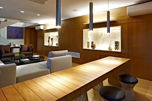 Top House VH: Sala de estar  por Cristina Menezes Arquitetura