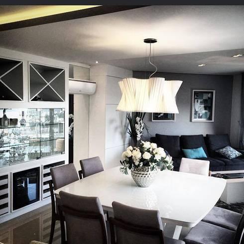 Apartamento D | B: Salas de jantar modernas por Jessica Rodrigues Arquitetura