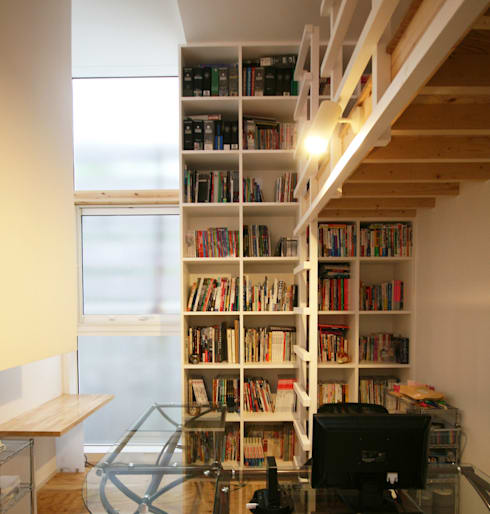 VORTEX CUBE: 畠中 秀幸 × スタジオ・シンフォニカ有限会社が手掛けた書斎です。