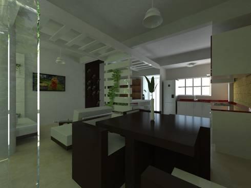 Proyecto de Remodelacion Depto. Lazaro Cardenas, Mich.: Comedores de estilo moderno por JRK Diseño - Studio Arquitectura