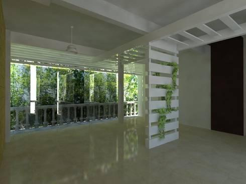 Proyecto de Remodelacion Depto. Lazaro Cardenas, Mich.: Paredes de estilo  por JRK Diseño - Studio Arquitectura