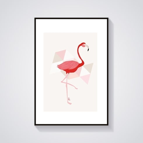illustration flamant rose por adel fabric homify. Black Bedroom Furniture Sets. Home Design Ideas