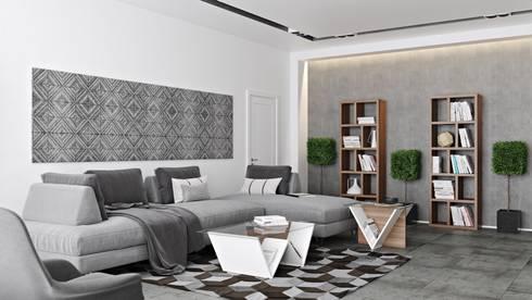 Walt coffee and side table - Berlin bookcase: Sala de estar  por Temahome