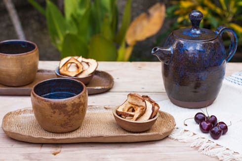Jogo de chá.: Cozinha  por Ateliê de Cerâmica - Flavia Soares