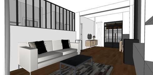 Rénovation maison en meulière 180m² par Agence Delphine Coipel ...