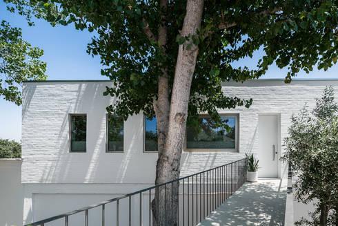 Casa sobre Armazém: Casas modernas por Miguel Marcelino, Arq. Lda.