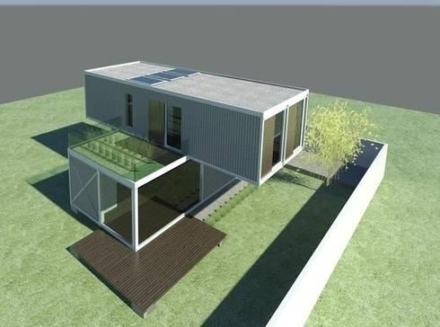 CASA CONTAINER – INSIDE BOX: Casas industriais por ESTUDIO ARK IT
