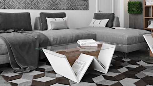 Walt coffee table: Sala de estar  por Temahome